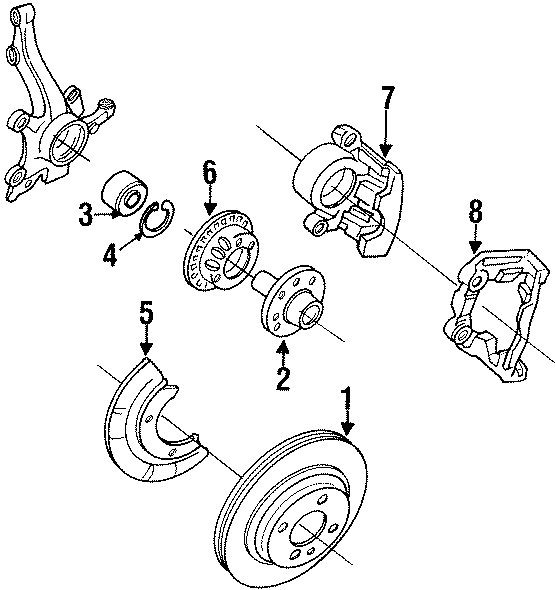 1997 Volkswagen Cabrio Abs wheel speed sensor tone ring. 4