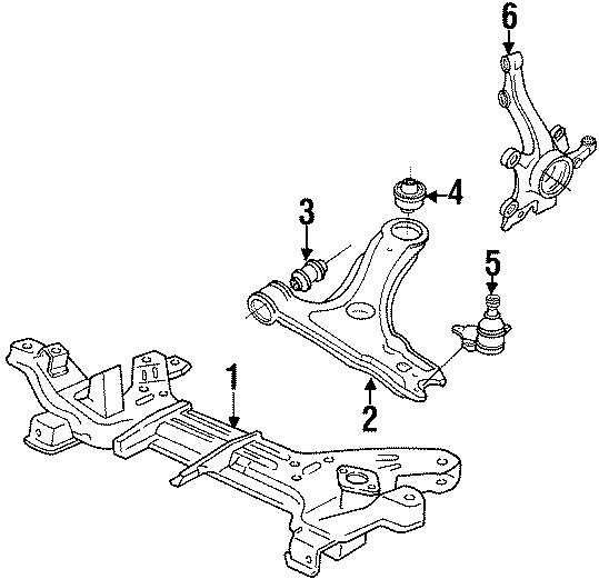 1994 Volkswagen Corrado Suspension Control Arm Bushing