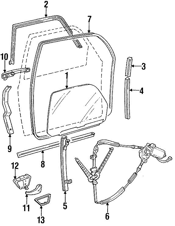 1992 Volkswagen Corrado Regulator. Corrado; Left. Body