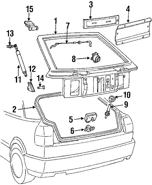 1992 Volkswagen Corrado License bracket. Power, GATE