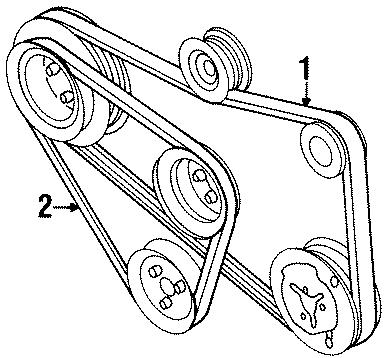 1996 Volkswagen Passat Accessory Drive Belt. WAC, CYLINDER