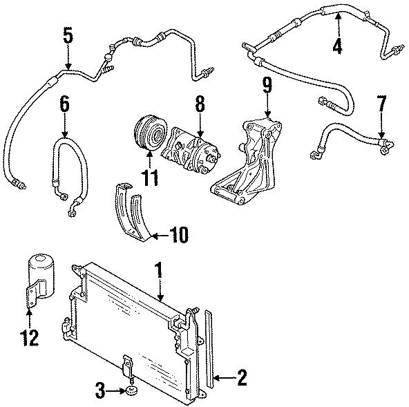 1986 Volkswagen Jetta GLI Condenser. Insulator. Washer