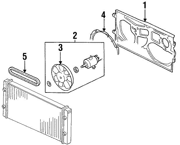 1997 Volkswagen Passat Wagon Fan. Blade. AUXILIARY. Engine