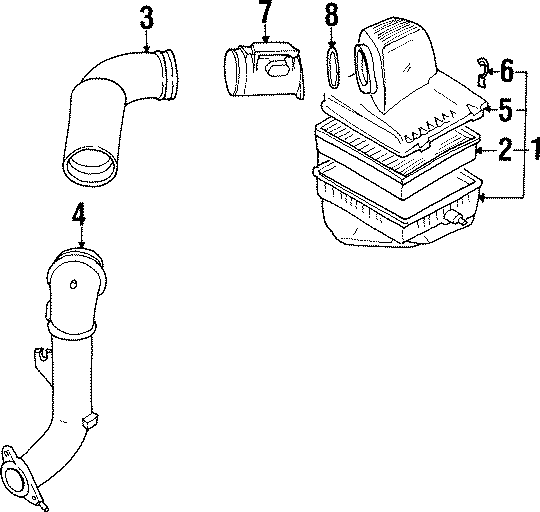 1998 Volkswagen Jetta Mass Air Flow Sensor. Engine, That