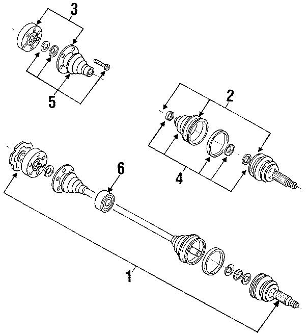 1993 Volkswagen Passat Wagon Cv joint boot kit. Trans