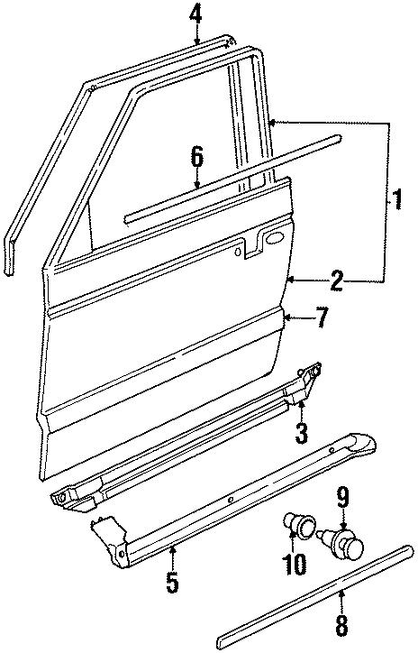 1994 Volkswagen Passat Running Board Step Pad Nut. SEDAN