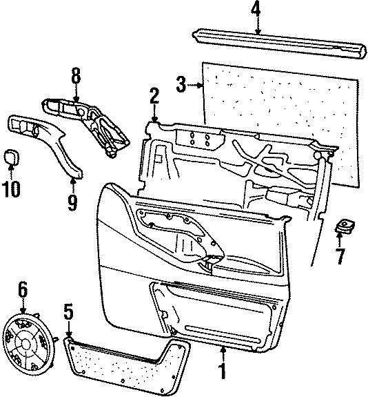 1996 Volkswagen Passat Belt Weatherstrip. Seal. 1990-94