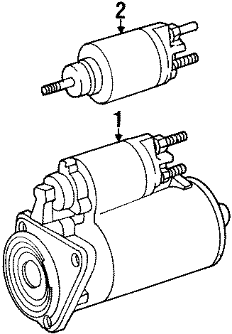 1994 Volkswagen Corrado Starter Motor. Trans, Auto, Manual
