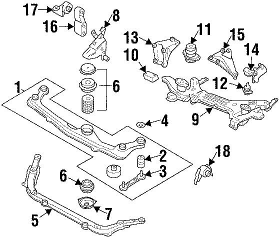 1995 Volkswagen Cabrio Engine Mount Support Bracket