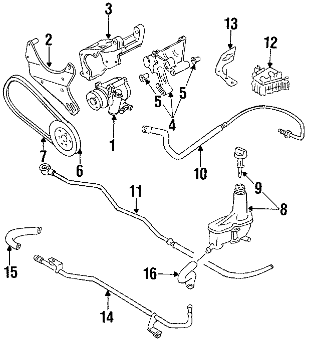 1997 Volkswagen Cabrio Power Steering Reservoir Hose