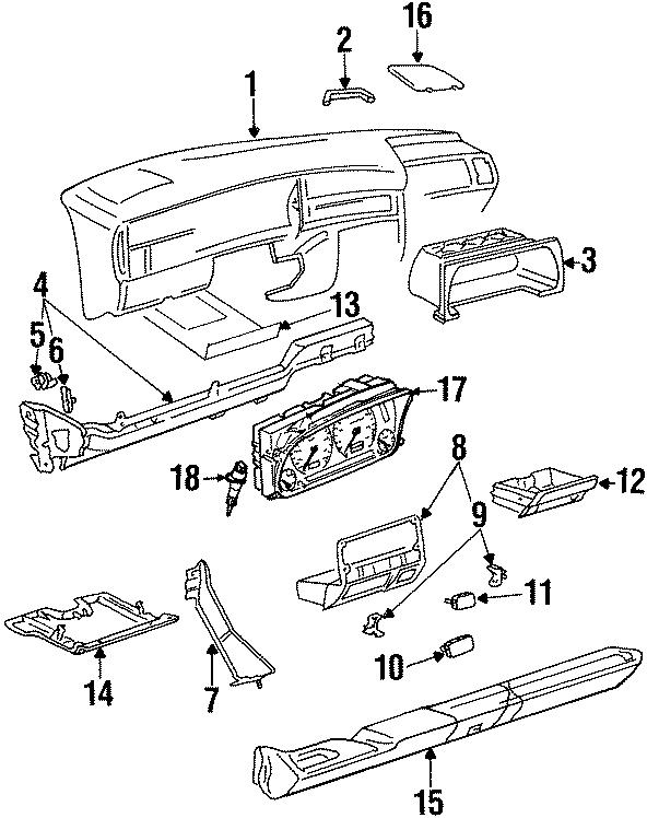 1997 Volkswagen Cabrio Instrument Panel Storage