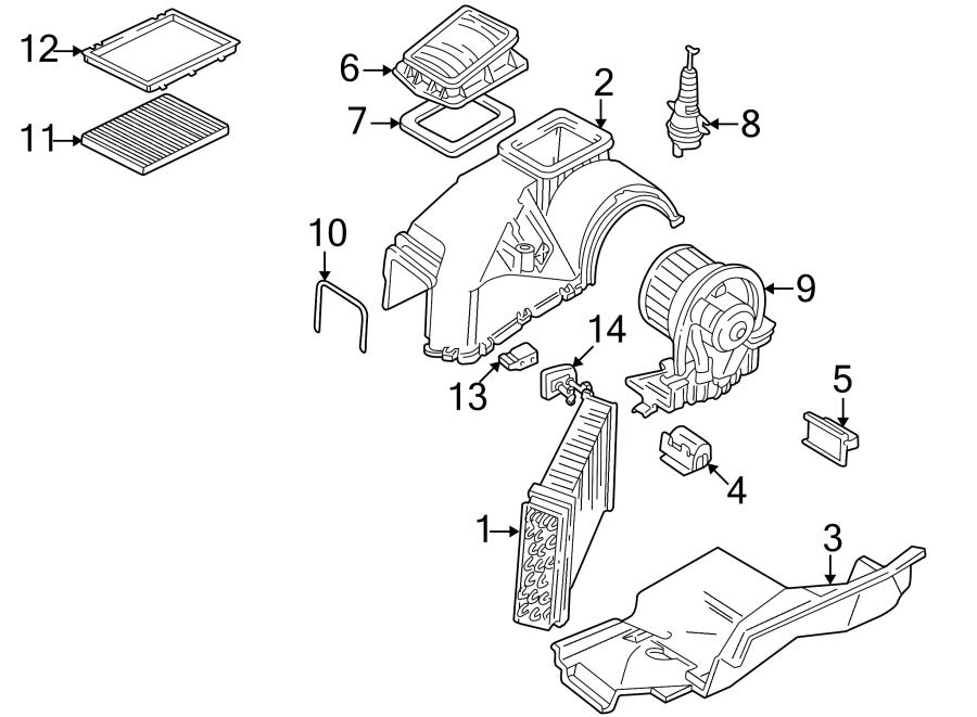2001 Volkswagen Cabrio Air conditioning (a/c) evaporator