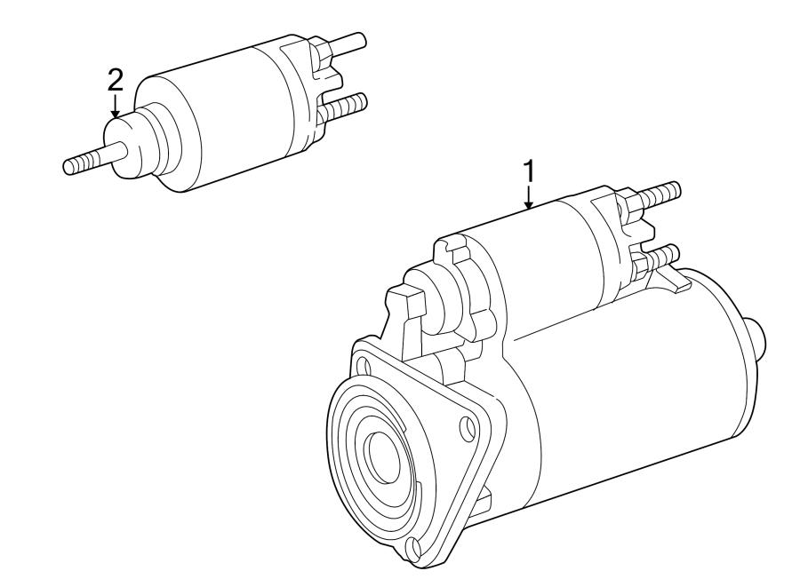 2000 Volkswagen Cabrio Starter Motor. Trans, Auto, Manual