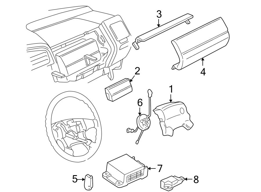 2000 Volkswagen Cabrio Air Bag Clockspring. Steering, VIN