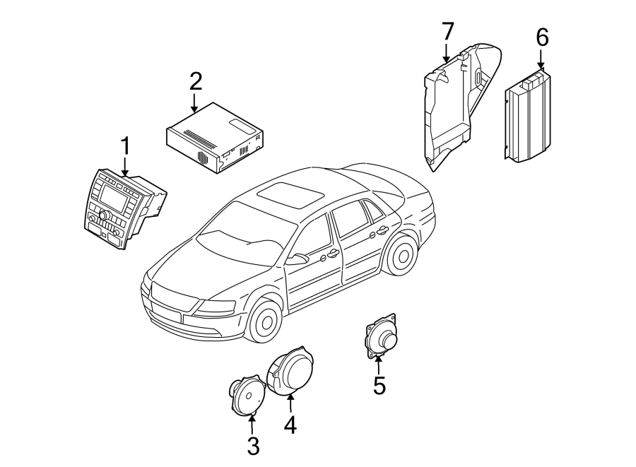2006 Volkswagen Phaeton Fuse Box Bracket. Radio Amplifier