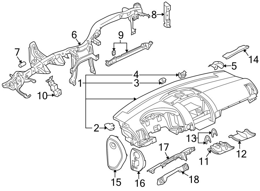 2004 Volkswagen Touareg Instrument Panel Knee Bolster