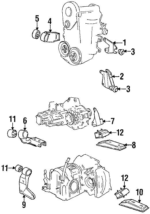 1987 Volkswagen Cabriolet Bracket. Transmission Mount
