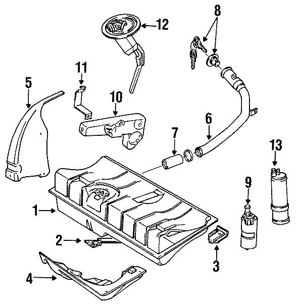 1986 Volkswagen Cabriolet Fuel Filler Neck. Filler tube