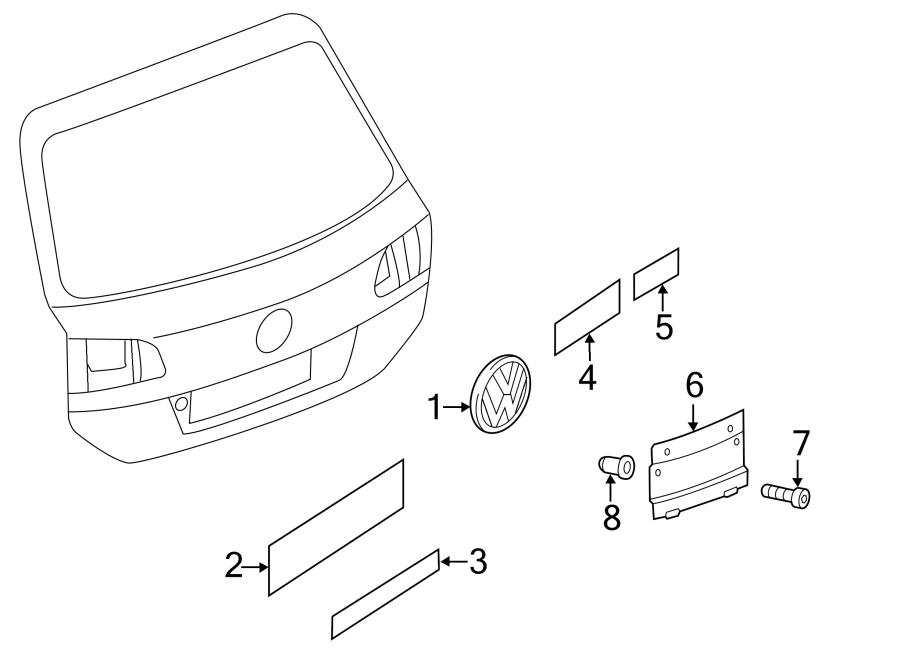 2011 Volkswagen Touareg Hatch Emblem. PartQualifier