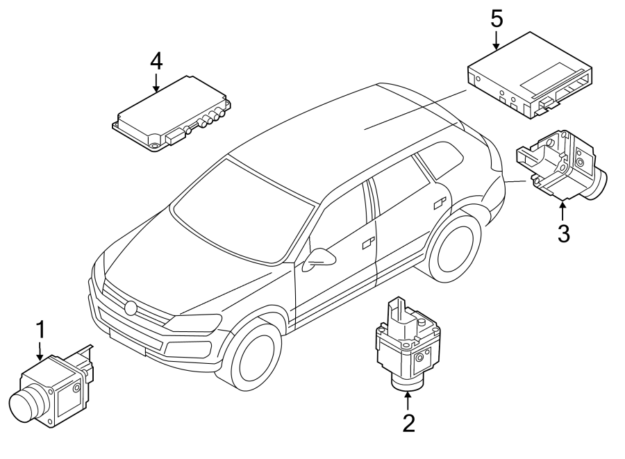2011 Volkswagen Touareg Module. Control. CONTOUR. Unit