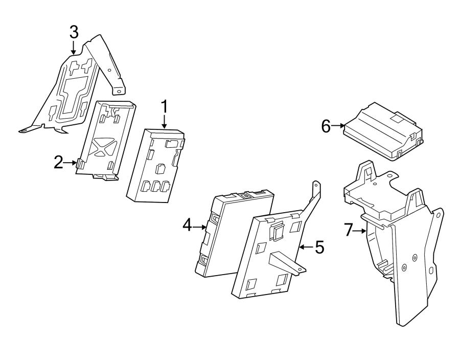 2011 Volkswagen Touareg Controller bracket. HVAC Control