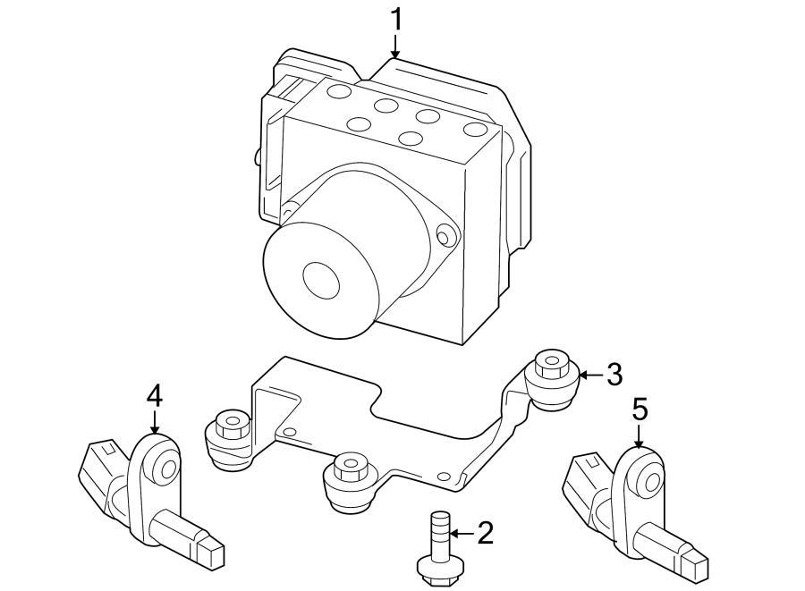 2010 Volkswagen Tiguan Abs. Unit. Modulator. Control