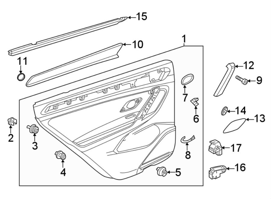 2018 Volkswagen Tiguan Speaker. Clip. Grille. Molding. 2
