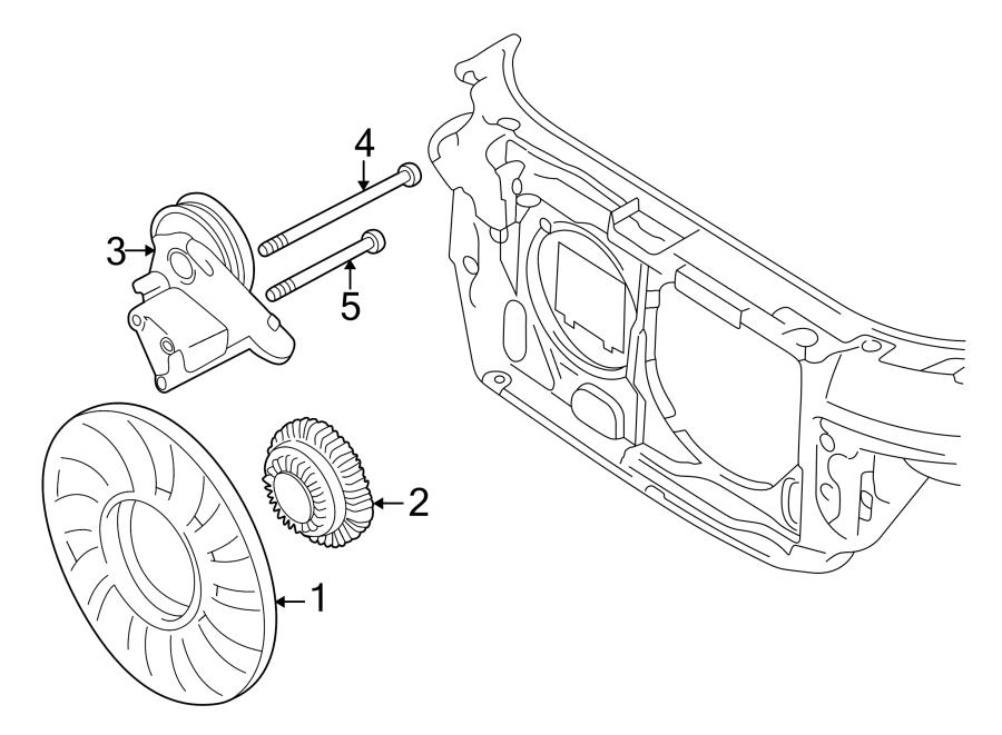 1998 Volkswagen Passat Wagon Engine Cooling Fan Clutch