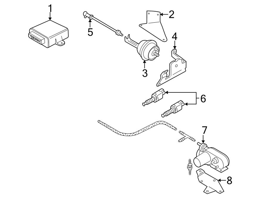1988 Volkswagen Cabriolet Actuator. CRUISE, Control, Assy
