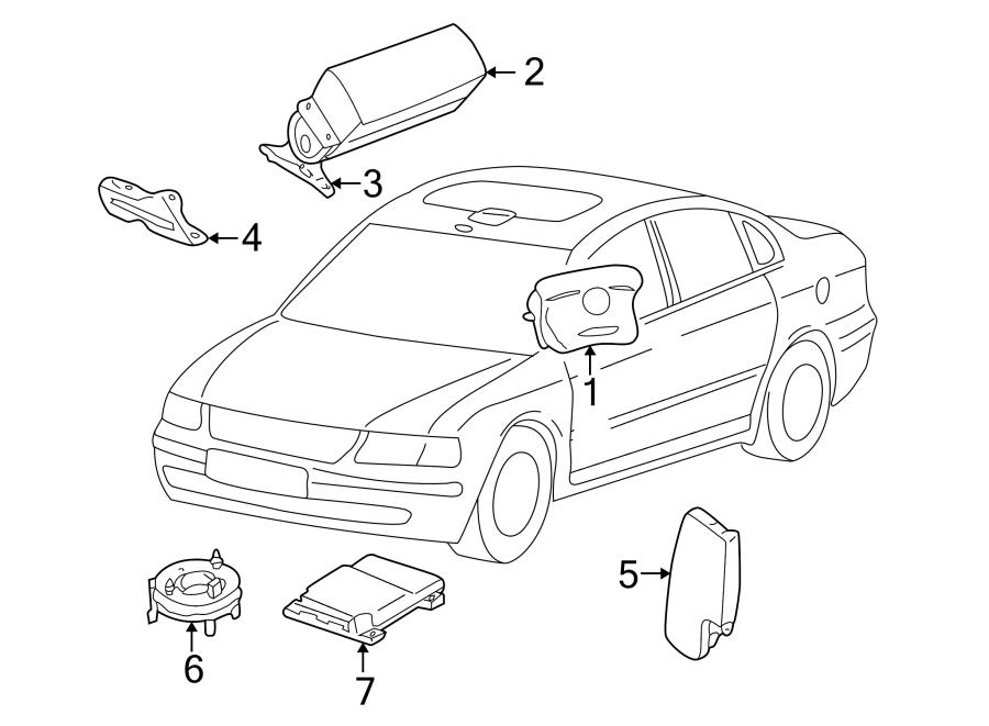 2002 Volkswagen Beetle Instrument Panel Air Bag. PASSENGER