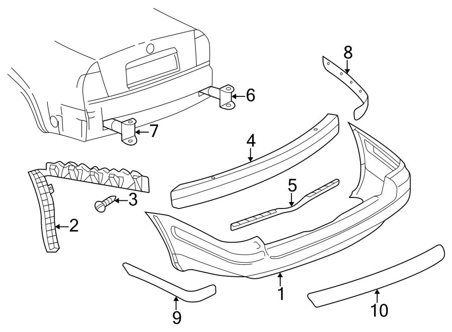 1999 Volkswagen Passat Wagon Bumper Guide (Upper, Lower