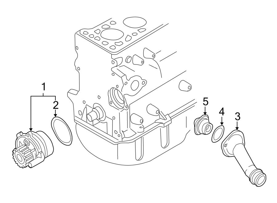 2004 Volkswagen Passat Engine Coolant Thermostat Housing
