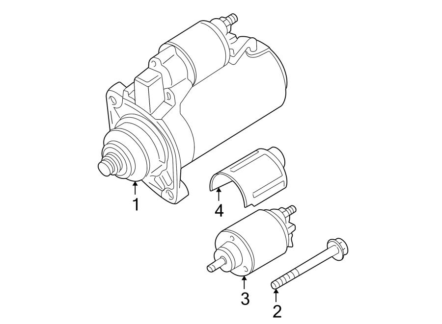 2002 Volkswagen Passat Starter Motor. 2.0 Kw. 4.0 liter