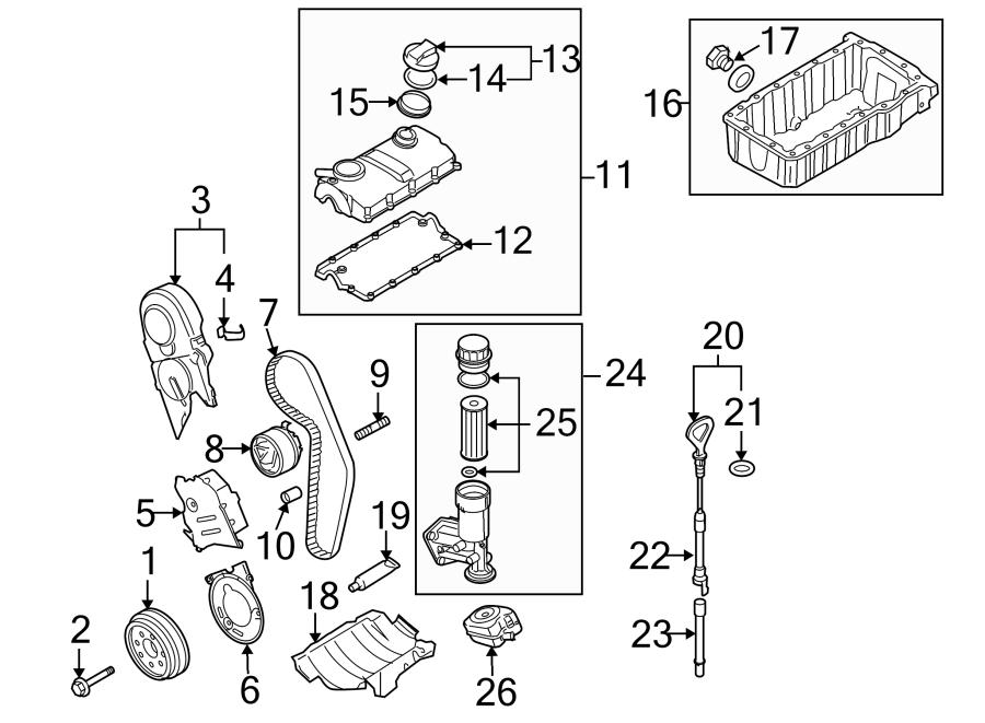 2005 Volkswagen Passat Engine Crankshaft Pulley. 2.0 LITER