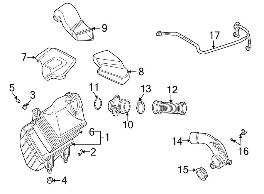 2002 Volkswagen Passat Breather tube. PCV Valve Hose