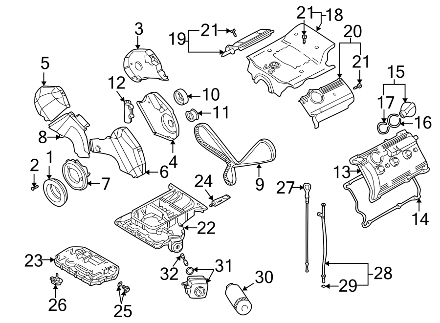 2005 Volkswagen Passat Engine Oil Filter Adapter. LITER