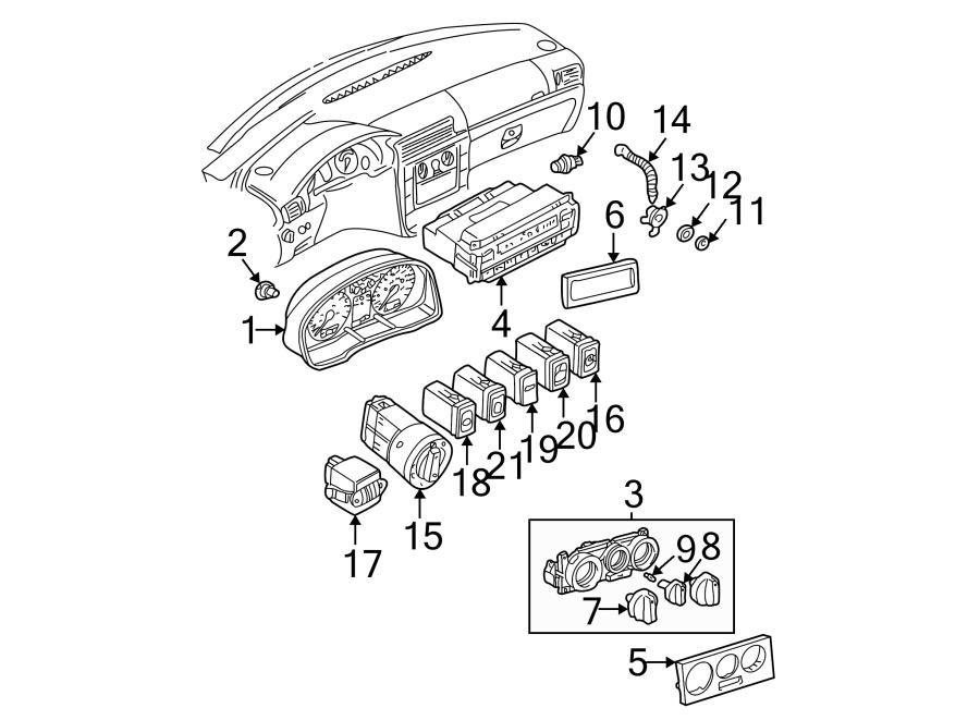 2003 Volkswagen Passat Wagon Instrument Panel Bezel. Trim