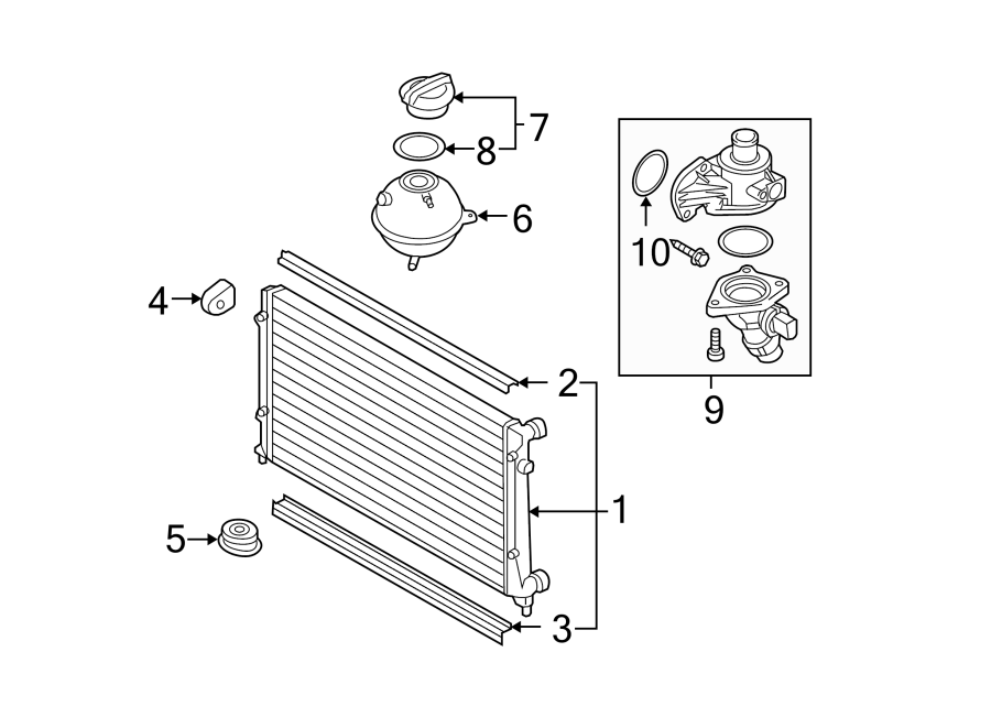 2006 Volkswagen Passat Engine Coolant Thermostat Kit