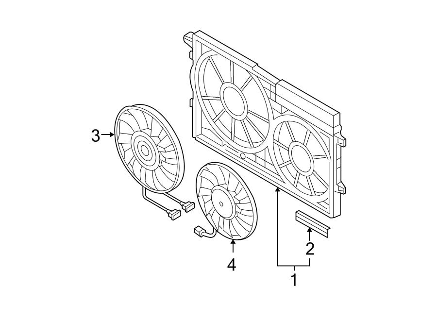2007 Volkswagen Passat Engine Cooling Fan Motor. Left