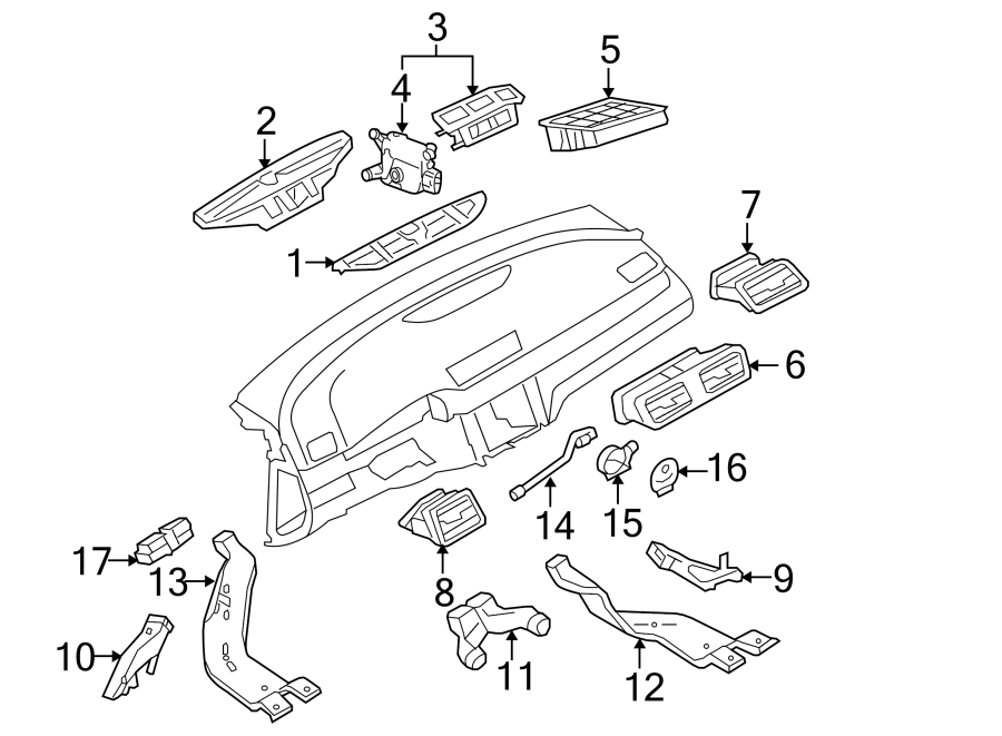2010 Volkswagen Passat Wagon Cabin Air Temperature Sensor