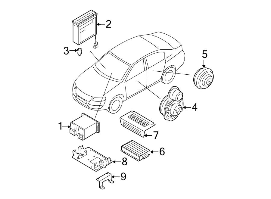 2007 Volkswagen Passat Wagon Radio Amplifier Cap. Black