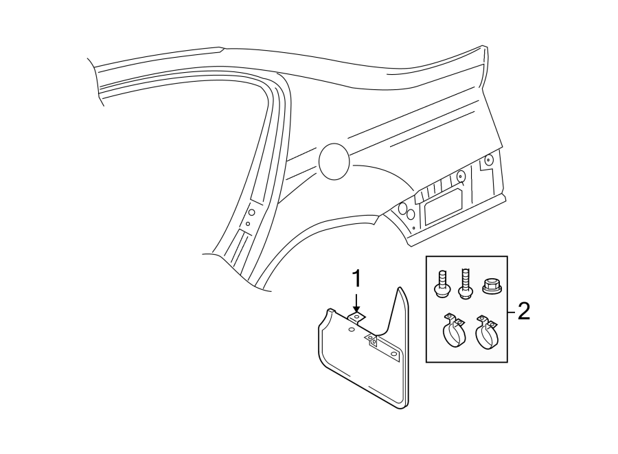 2008 Volkswagen Passat Att. Parts. Mud guard hardware kit