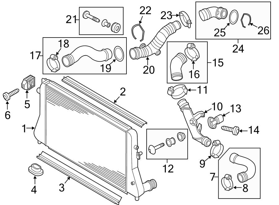 2015 Volkswagen Jetta Turbocharger Intercooler Pipe. LITER