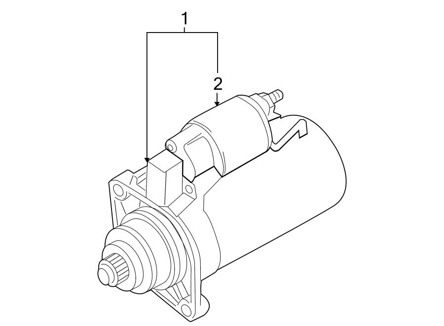 2009 Volkswagen CC Starter Motor. 2.0 Kw. Liter, Bosch