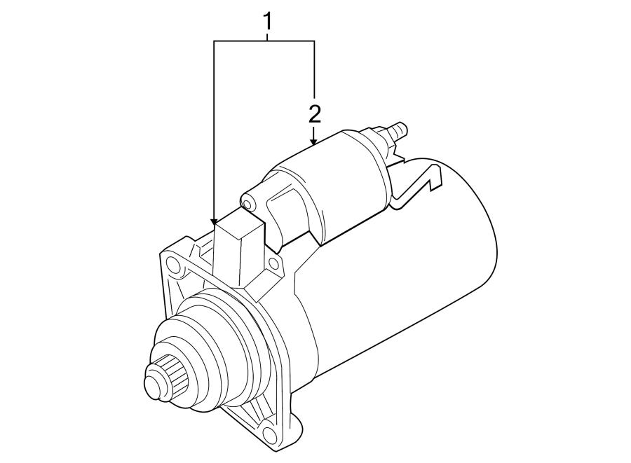 2014 Volkswagen CC Starter Motor. 1.1 Kw. New. Trans