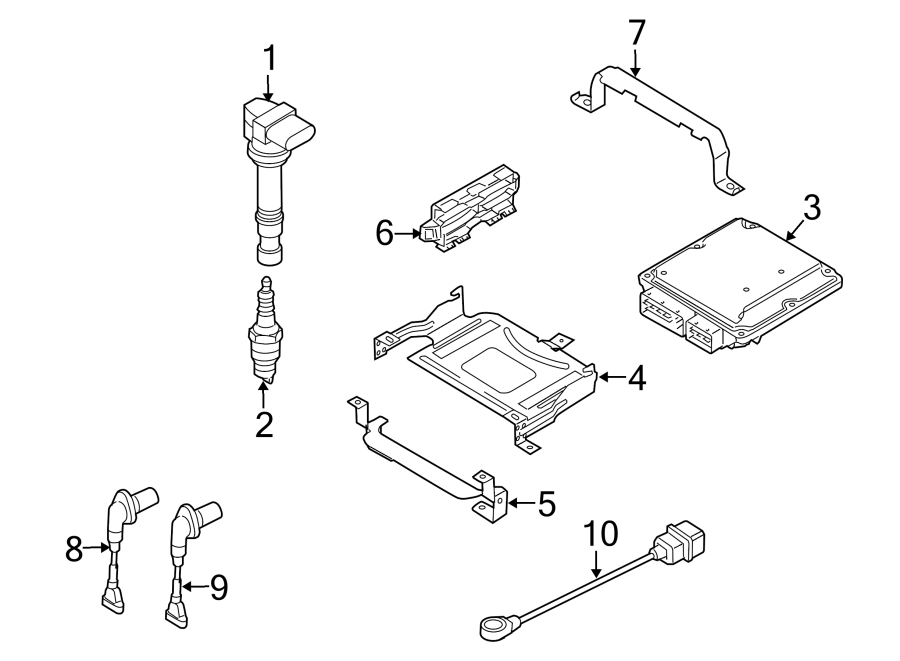 2010 Volkswagen CC Engine Control Module. 2.0 LITER. 2.0