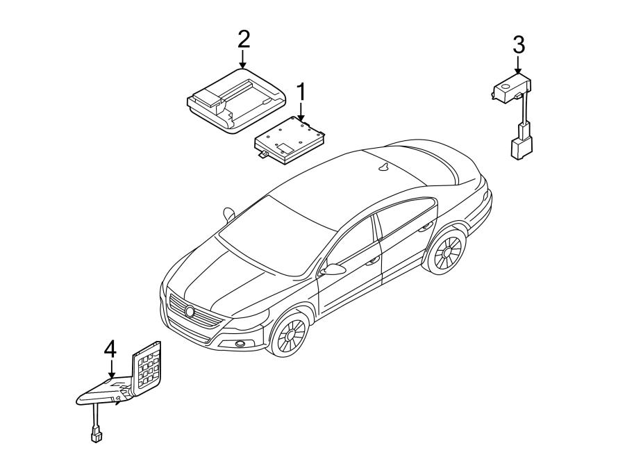 2009 Volkswagen CC Navigation Microphone. 2012-15. 2016-17