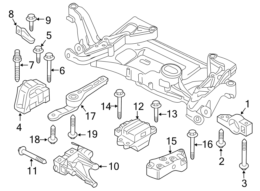 2014 Volkswagen CC Engine Mount Bracket. Support bracket