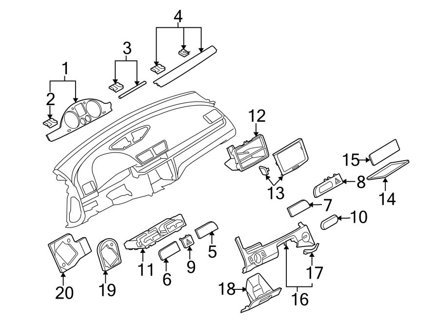 2009 Volkswagen CC Instrument Panel Molding