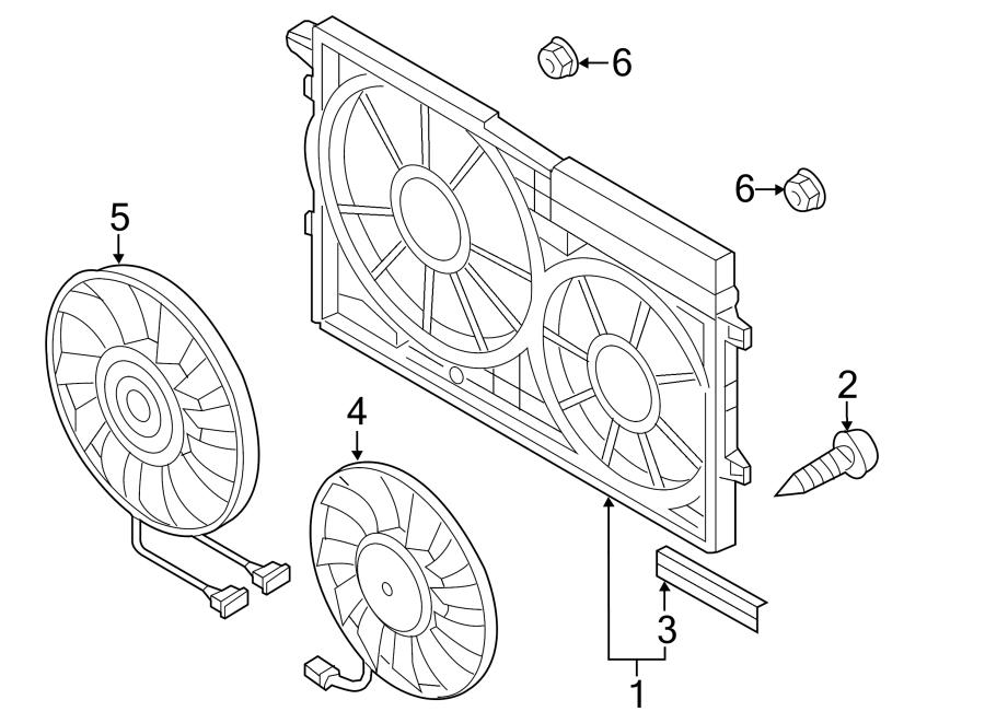 2018 Volkswagen Passat Fan. Motor. Includes: Fan Motor